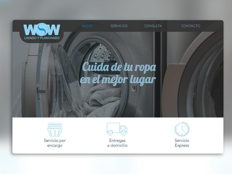 Laundry Service Page information architecture illustrator webdesign ui  ux design