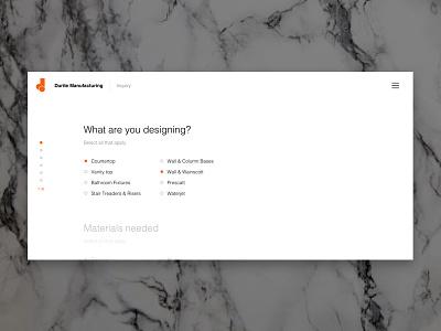 Durite Inquiry Form web design product design form design ux design ui design