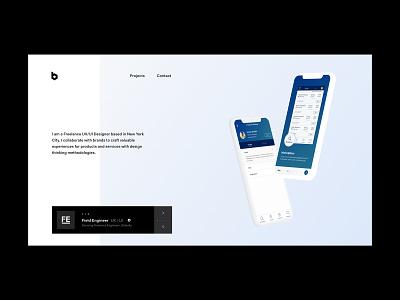 Portfolio Concept Design web minimal design ui web design