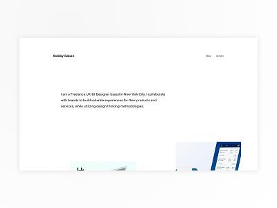 Personal Design Portfolio wordpress css animation web portfolio ux product design ux design minimal design ui design web design