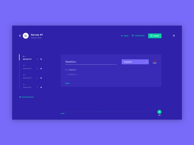 Concept Survey Builder form builder quiz builder web ux design ux ui product design minimal design ui design web design