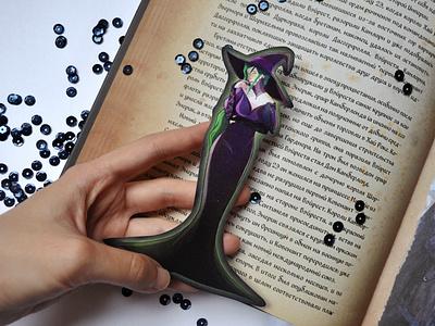 """Dark Witch"" bookmark книжная закладка полиграфия дизайн графический дизайн изобразительное искусство иллюстрация magic witch bookmarks bookmark original character original art design draw character art paint illustration artwork adobe photoshop art"