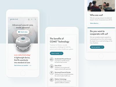 Piomic startup minimal health mobile design mobile user interface ui website web