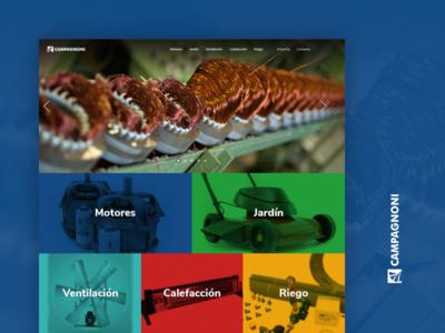 Campagnoni website web  design website ui