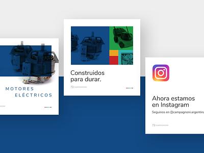 Campagnoni social media visual design social media