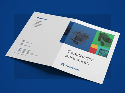 Campagnoni stationery visual design catalog design catalog print