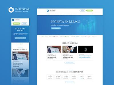 Integrar digital website design ui design ux design ux ui
