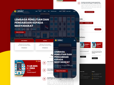 LPPM UNSIKA Website - Landing Page php laravel bootstrap4 boostrap homepage school institute mobile ui android modern responsive design ui blog responsive app landingpage landing 3d website company profile