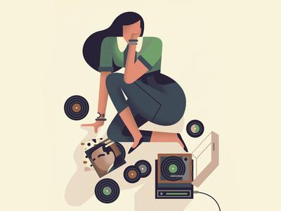 Listening to Music music vinyl lp records