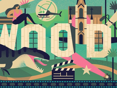 Make It In Hollywood #1 helicopter t rex dinosaur hollywood