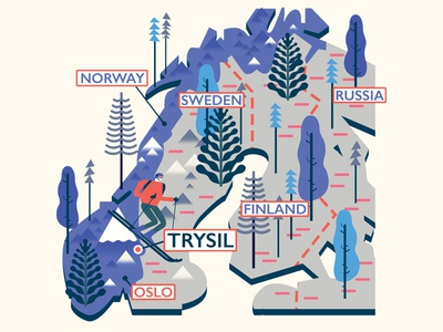 Trysil (Norway) Map