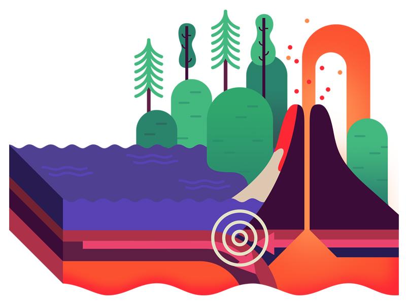 Tectonic Plates Diagram By Owen Davey Dribbble