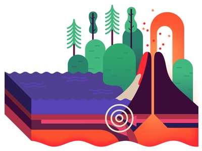 Tectonic Plates Diagram By Owen Davey Dribbble