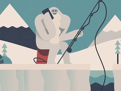Winter Yeti mountains fishing yeti winter
