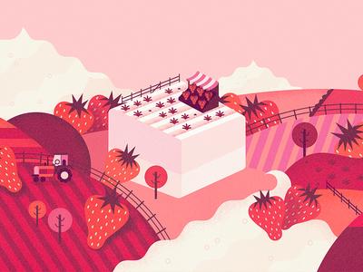 Smashmallow #7 farm tractor strawberry snack treat gluten free marshmallow