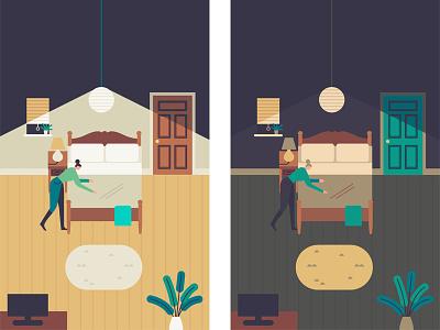 AirBNB Development Work bedroom character bed room