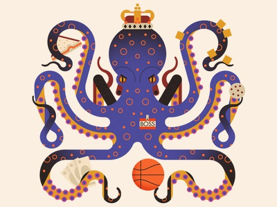 Experience #1 sandwich money basketball boss king crown octopus