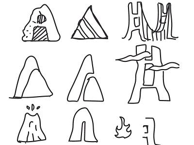 Letterset - A Monograms icon typography branding explorations flat graphic design minimal design