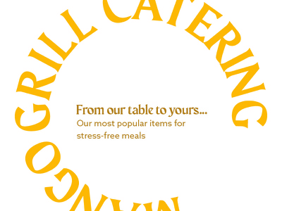 Mango Grill Catering graphic design design
