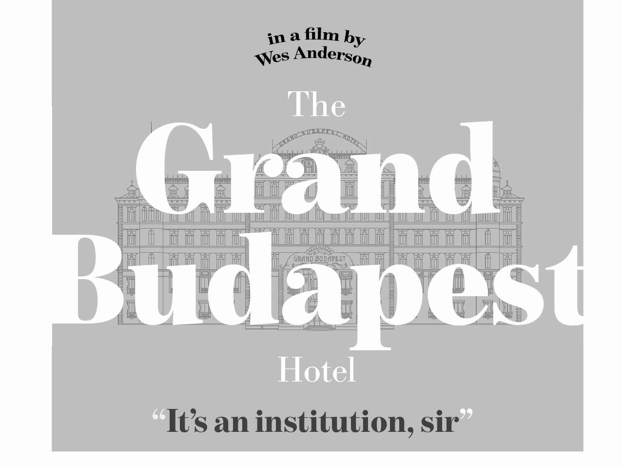 The Grand Budapest Hotel - Redesign movie art changes movie poster design challenge movie posters lettering illustration flat vector minimal design