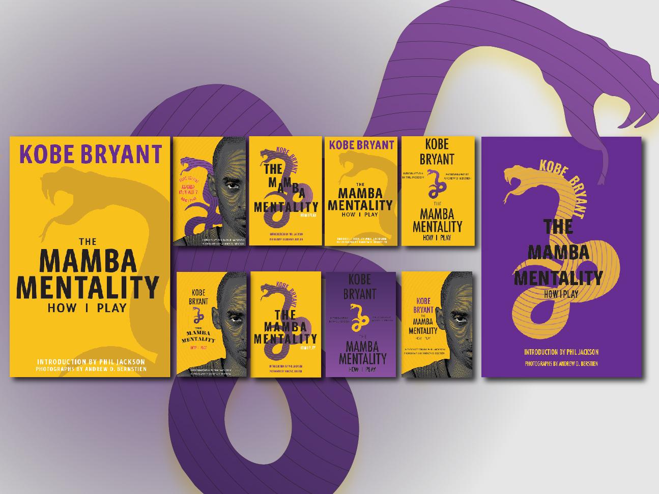 The Mamba Mentality Explorations kobe bryant illustration graphic design explorations book cover minimal lettering design challenge flat vector design