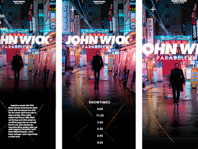 John Wick Movie Website Mock Up