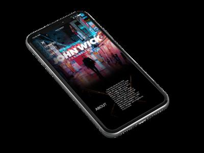 John Wick Movie Website iPhone mockup