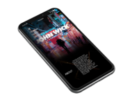 John Wick Movie Website iPhone mockup