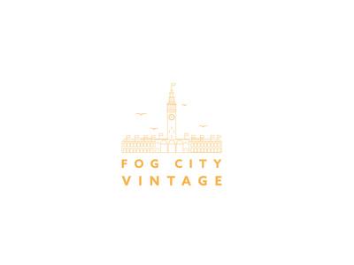 Fog City Vintage san francisco ferry building branding explorations design challenge graphic design vector minimal design