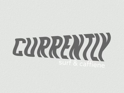 Currently Cafe & Surf Boutique mockups logo branding typography vector graphic design minimal design