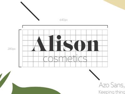 Alison Cosmetics design logo explorations graphic design lips grid logodesign branding alison cosmetics cosmetics thirtydaylogochallenge logocore design challenge