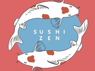 Logocore Design Challenge Day 4 of 30: Sushi Zen branding illustration lettering vector graphic design minimal design 30dayschallenge design challenge logocore