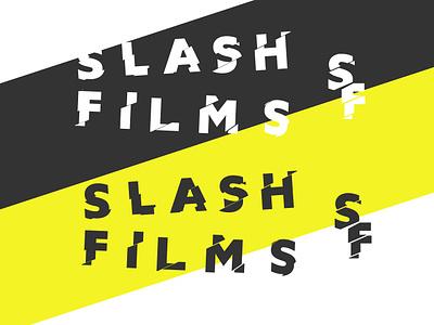 Logocore Challenge 06/30: Slash Films thirtylogos logocorechallenge logocore explorations minimal typography illustration graphic design design design challenge vector flat