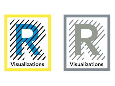 Logocore Challenge: R Visualizations branding logo illustration design challenge vector flat graphic design minimal design