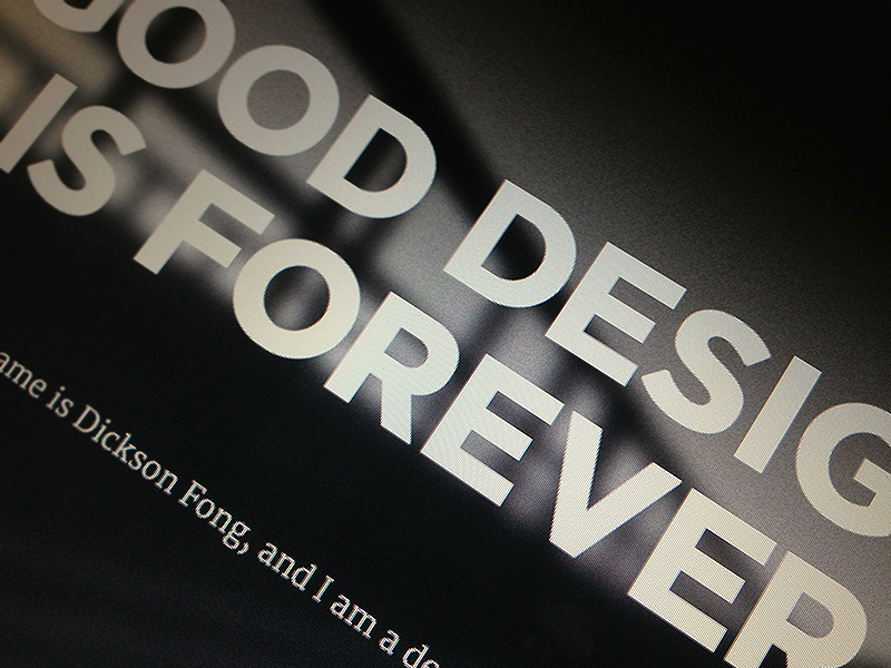 Good Design is Forever typography