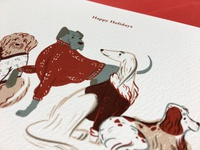 Sweater Dogs Holiday Card Illustration