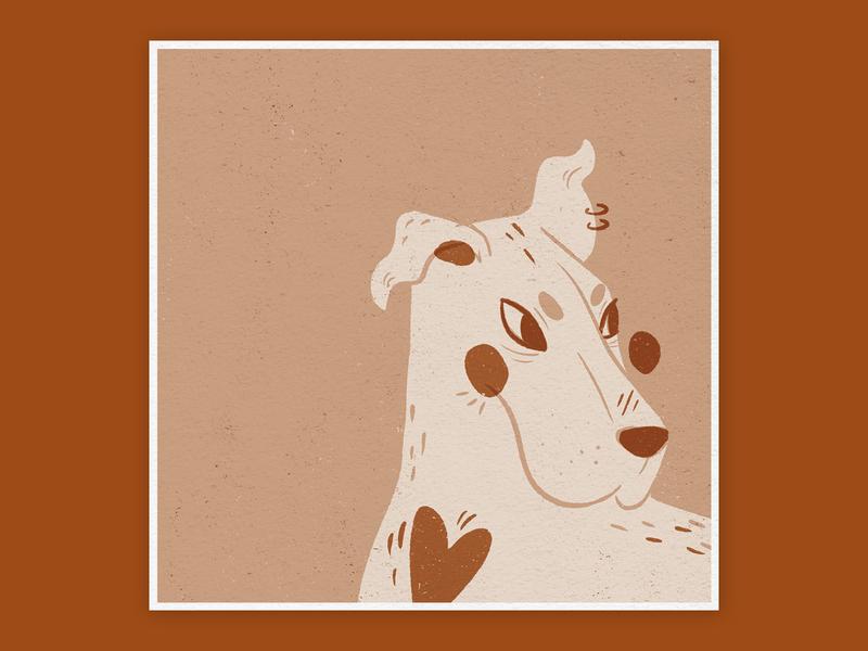 Matchbox Doggo Illustration minimal woodblock style matchbox dog illustration illustration linocut style animal illustration digital illustration procreate procreate app digital art