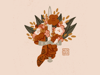 Lover and a Fighter tattoos florals enamel pin digital art ipad pro apple pencil procreate app procreate digital illustrator digital illustration illustration