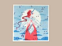 Crane Spirit Risograph
