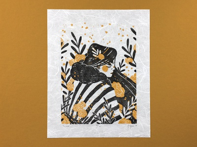 'Eliza' 2-Color Block Print