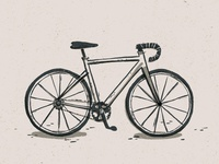 Simple Road Bike Illustration