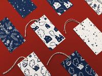 Winter Patterns Gift Tag Set