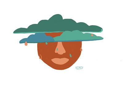 When it rains graphic  design design ipadpro sketchbook