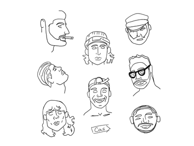 People Flash Sheet II people digital art digital sketching sketches sketch illustration sketchbook ipad pro