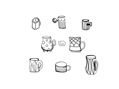 Coffee Mug Flash Sheet coffee mug design coffee mug coffee cup coffee digital illustration sketchbook ipad pro illustration design sketches sketching digital digital art digital design