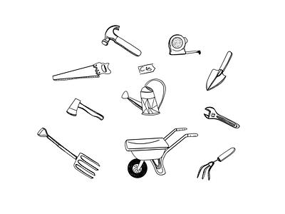 Tool Flash Sheet dotwork dot yard tools tools digital design sketchbook ipad pro illustration design sketches sketching digital digital art digital illustration