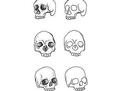 Skull Flash Sheet dotwork dot skull skulls digital design sketchbook ipad pro illustration design sketches sketching digital digital art digital illustration
