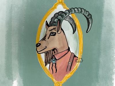Pyrenean Ibex digital illustration digital painting digital art digital design procreate brushes procreate art procreateapp extinction extinct ibex