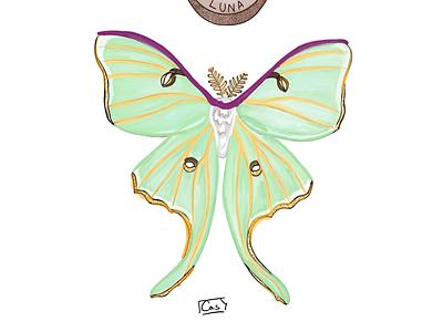 Luna Moth procreate art procreate luna moth dotwork dot digital design sketches sketching digital illustration digital illustration design ipad pro sketchbook