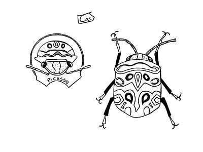 Picasso Beetle Flash Art flash sheet flash dotwork dot procreate art procreate ipadpro digital digital design digital illustration digital art design illustration ipad pro beetle